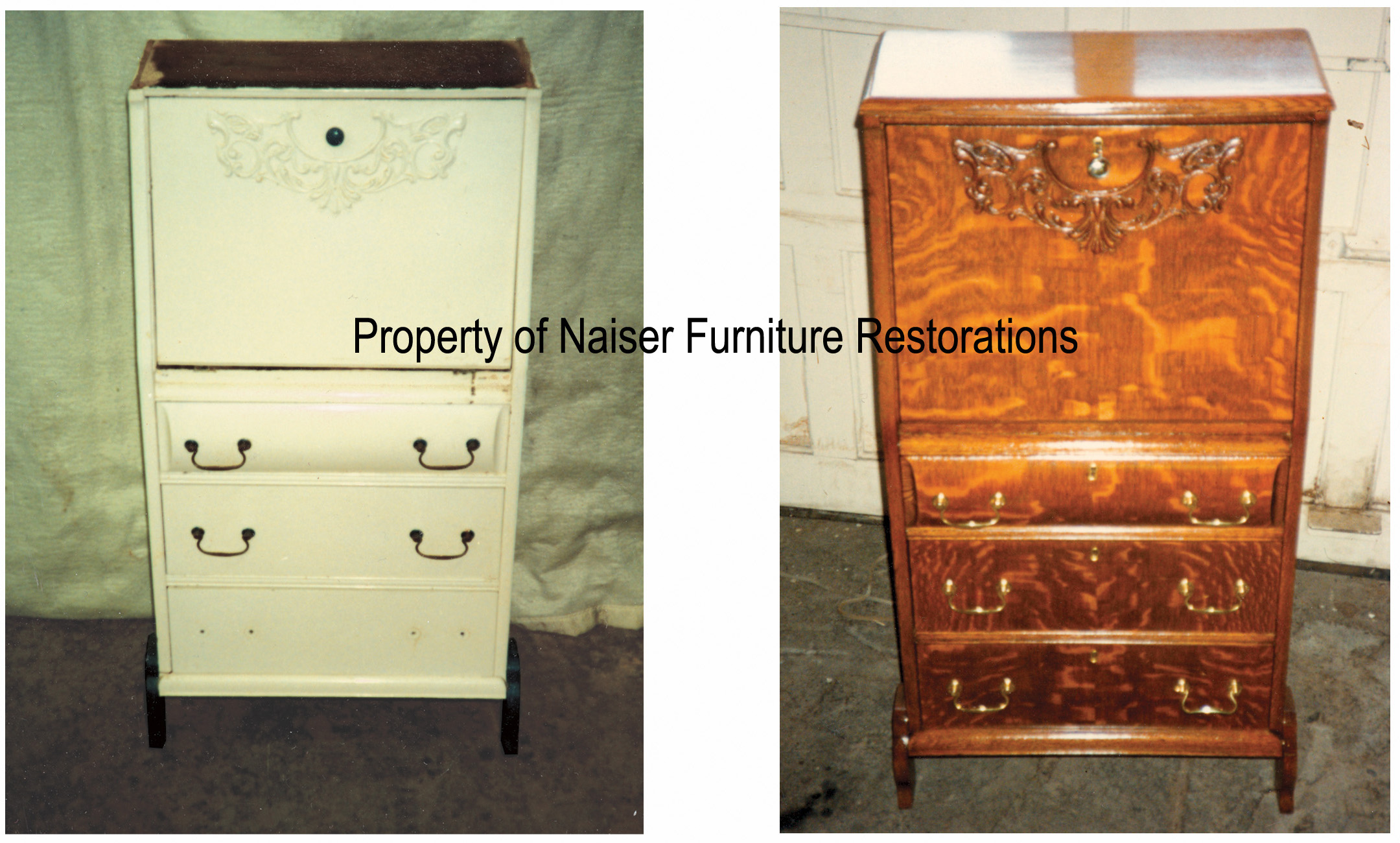 cupboard furniture antique carpentry precision refinishing project